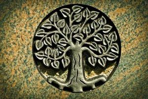 Engraved tree of life