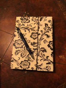 Gratitude Journal laying on table