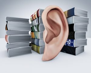 Books with ear in front