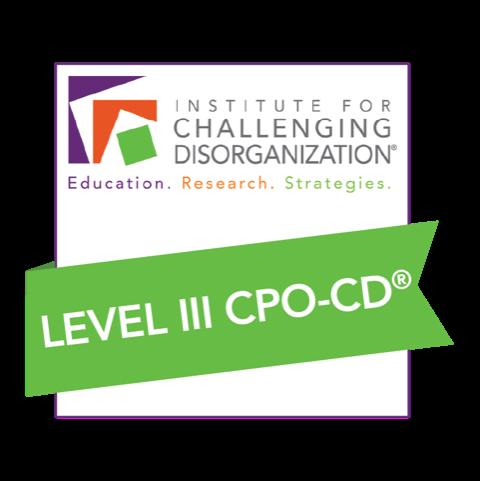 Certified Professional Organizer in Chronic Disorganization Level 3